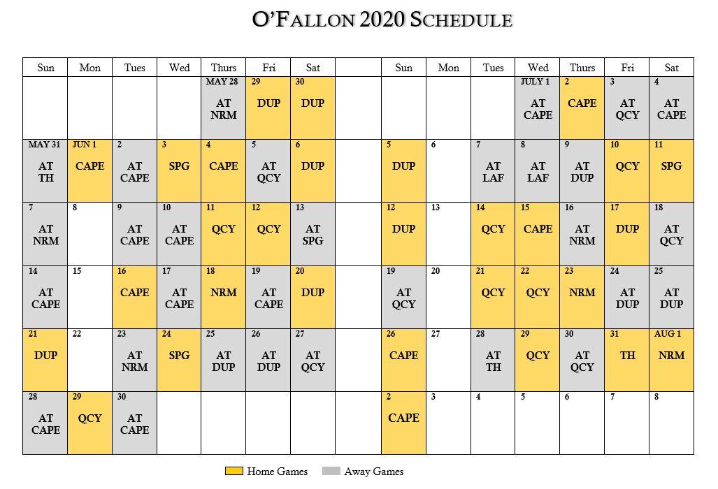 O'Fallon Baseball Schedule (1)